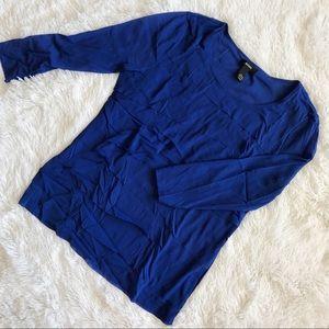 Alfani Blue Mesh Layered Top